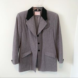 BOGO 50% Pendleton Wool Blazer with Velvet Collar